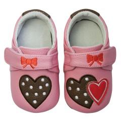 Zapatos MiniZ Polka Lolly Pink de Rose et Chocolat