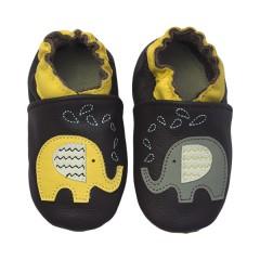 Zapato para bebé ClassicZ Zig-Zag Elephant Brown de Rose et Chocolat