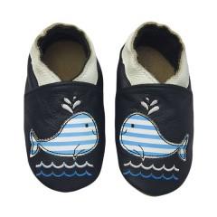 Zapato para bebé ClassicZ Happy Whale Navy de Rose et Chocolat