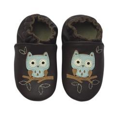 Zapato para bebé ClassicZ Night Owl Brown de Rose et Chocolat