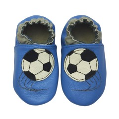 Zapato para bebé ClassicZ Soccer Star Blue de Rose et Chocolat