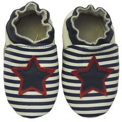 Zapato para bebé ClassicZ Star Stripe Navy de Rose et Chocolat