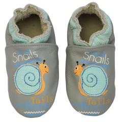 Zapato para bebé ClassicZ Smiling Snail Grey de Rose et Chocolat