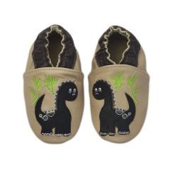 Zapato para bebé ClassicZ Baby Dino Cream de Rose et Chocolat