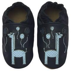 Zapato para bebé ClassicZ Happy Giraffe Blue de Rose et Chocolat