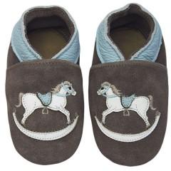 Zapato para bebé ClassicZ Rock-a-bye Horse Brown de Rose et Chocolat