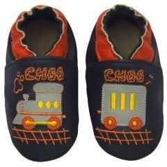 Zapato para bebé ClassicZ Choo Choo Navy de Rose et Chocolat