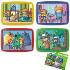 Ecopuzle Tina y Leo 8 piezas de Miniland