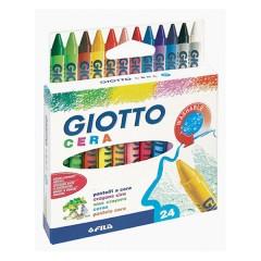 Estuche 24 Uds. de Ceras de Giotto