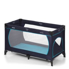 Cuna de viaje Dream´n Play Plus Navy/Aqua de Hauck