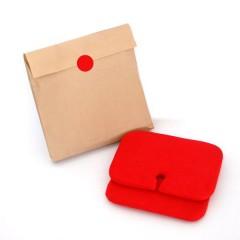 2 Cojines rectos rojo de Nuun Kids Design
