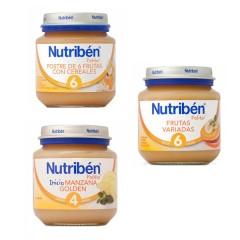 Pack 3 tarritos de frutas de Nutribén