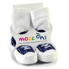 Calcetines Antideslizantes Moccons Sneakers Azul Marino de Sock Ons