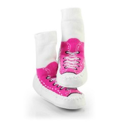 Calcetines Antideslizantes Moccons Sneakers Rosa de Sock Ons