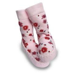 Calcetines Antideslizantes Moccons Flores Rosa de Sock Ons