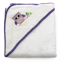 Toalla Capa de Baño Buho para el Bebé de Petit Chat