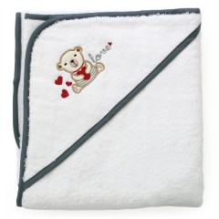 Toalla Capa de Baño para el Bebé Osito de Petit Chat