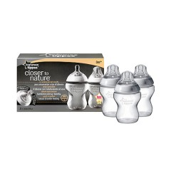 Pack de 3 Biberones Closer To Nature de 260 Ml de Tommee Tippee