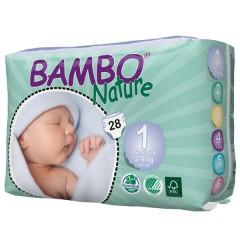 Pañal Recién Nacido Talla 1(2-4kg) 28uds de Bambo