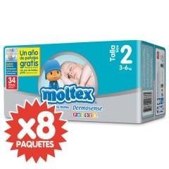 272 Pañales T2 Premium Recién Nacido 3-6 Kg de Moltex
