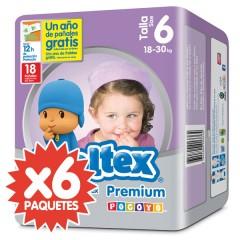 108 Pañales T6 Premium Junior 18-30 Kg de Moltex