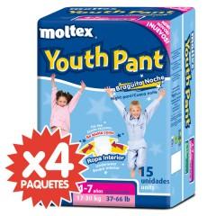 60 Braguitas de Noche Youth Pant 17-30 Kg de Moltex