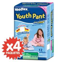 48 Braguitas de Noche Youth Pant 27-57 Kg de Moltex