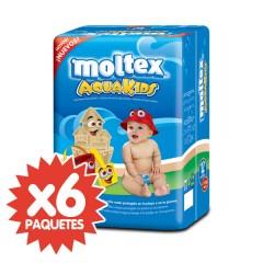 72 Pañales para El Agua Aquakids T2 de Moltex