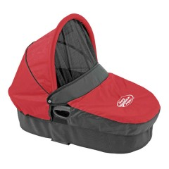 Capazo deluxe + Adaptador Grupo 0 Rojo/negro de Baby Jogger