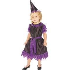 Disfraz Halloween Niña Negro y Morado (talla 1-2 Años)