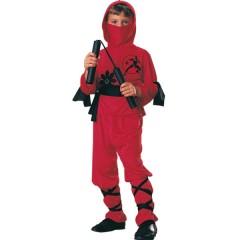 Disfraz Guerrero Samurai rojo (Talla 3-4 años)