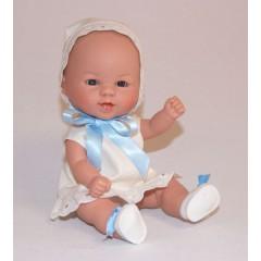 Bebetín con gorrito en blanco y azul de D´nenes