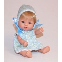 Bebetín con Gorrito En Flores Azul de D´nenes