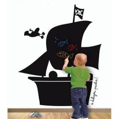 Vinilo Pizarra Barco de Decora Tu Pared