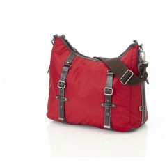 Bolso maternal Hobo Red Nylon Buckle de Oi Oi