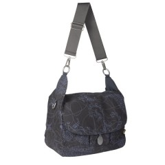 Bolso maternal Gold Messenger color grey de Olmitos