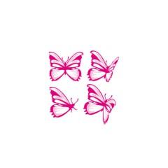 Vinilo decorativo Mariposas Color Fucsia de Aratextil