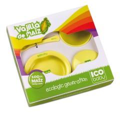 Vajilla biodegradable de maíz (6 piezas) de Ico Baby
