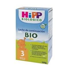 4 unidades de leche biológica 3 (de continuación) de Hipp Biológico