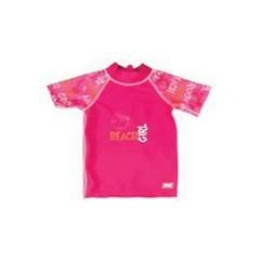 Camiseta manga corta rosa grafiti de Baby Banz