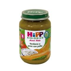 2 Tarritos Menú Bebé Verduras Y Arroz Con Pollo de Hipp Biológico