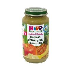 2 tarritos Frutas y cereales manzana-piña-plátano con cereales de Hipp Biológico