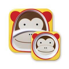 Vajilla Infantil Zoosets Monkey de Skip Hop