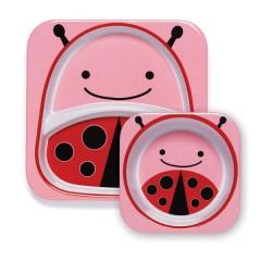 Vajilla Infantil Zoosets Lady Bug de Skip Hop